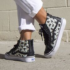 VANS SK8 Hi Slim Zip (Eley Kishimoto) Sourpuss Black  Shoes WOMEN'S SIZE 8