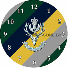HIGHLANDERS GLASS WALL CLOCK