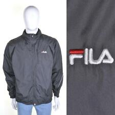 FILA VTG 90s Waterproof Jacket M Grey Tracksuit Track Shell Suit Top 1990s