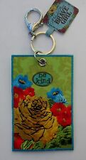"""m Be Kind BRAVE GIRL Luggage Tag Keychain CLIP Cowgirl 4"""" suitcase bag ID"""