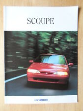 HYUNDAI S COUPE 1992 French Mkt sales brochure - Scoupe