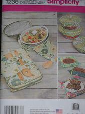 Fabric Bowl Covers Casserole Carriers Gift Basket Sewing Pattern Simplicity 1236