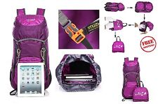 Hiking Camping Outdoor Travel Bag Daypack Backpack Foldable Water Resistant 40L