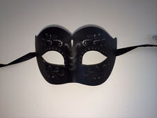 Black Leather Venetian Masquerade Costume Ball Prom Dance Party Wedding Mask