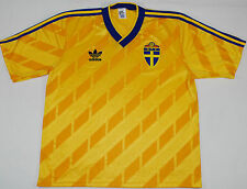 1988-1990 SWEDEN ADIDAS HOME FOOTBALL SHIRT (SIZE XL)