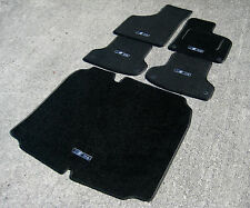 Black Edition Car Mats- Audi A3 8P (03-12) + Boot Mat + Carbon S-Line Logos (x5)