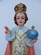 "Infant Jesus Of Prague Statue 13.75"" Tall MADE IN OLOT, SPAIN"