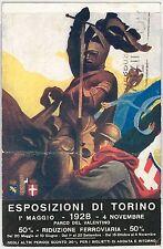 CARTOLINA d'Epoca - PUBBLICITARIA :  ESPOSIZIONI di TORINO 1928