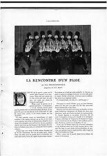 ▬► CLIPPING La rencontre d'un passé Lucie Delarue-Mardrus A.E. MARTY 6 pages