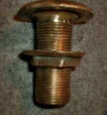 "Vintage Bronze Through Hull Exhaust Fitting 1-1/4"" Pipe"