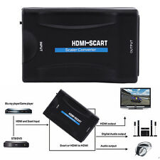 MHL HDMI To SCART 1080p Video Audio Converter Scaler Smartphone STB DVD TV PC