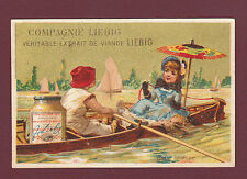 LIEBIG  -  EXTREMELY RARE CARD - S.100  /  F.75  -   A  BOATING  ACCIDENT - 1878