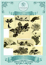 Vintage 1920 sewing pattern fabric decorative flowers,fruits,corsages, ebook CD