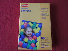 Staples  Photo Plus, 4 X 6 inch glossy photo printer paper , 60 sheets