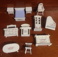 11 Piece Shabby Chic Dollhouse Furniture