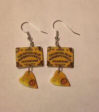 Ouija Board Earrings Planchett Charms