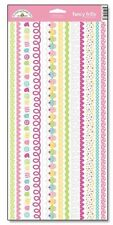 Doodlebug Design CONFECTIONS Fancy Frills Glitter Border Stickers Scrapbooking