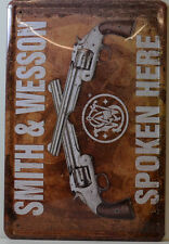 WAFFEN SMITH & WESSON SPOKEN PISTOLE BLECHSCHILD  20 x 30 CM (BS 284)