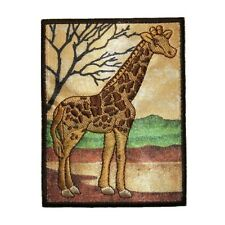 ID 0764 Giraffe Wild Animal Safari Embroidered Iron On Applique Patch