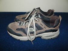 Skechers Sport Mens 51238EW Extra Wide Brown Leather Size 8.5 Nice Conditio