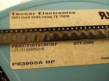 5x TECCOR P0300SA RP , 20A SILICON SURGE PROTECTOR , DO-214AA