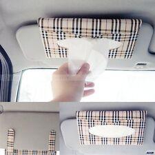 PU Leather Car sun visor Tissue box Auto accessories holder Paper napkin clip
