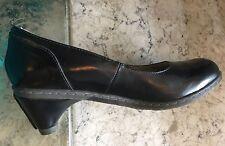 NEW! Dr Doc Martens CARMEN~Black Leather Pumps Heels Women's Shoes Size 42/US10