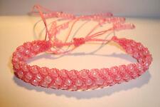 Peruvian Handmade,Triple Beaded Slipknot Friendship Bracelet~TS1~uk seller~