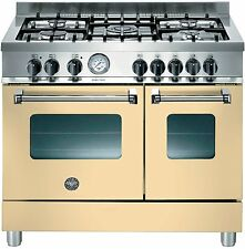 dual fuel range cookers 90cm bertazzoni cream 5 burner twin oven rrp £1649