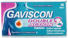 16 x Gaviscon Double Action 250mg Mint Tablets FREEPOST