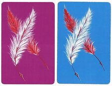 Vintage Arrco Feathered Quill Pinochle Playing Card Double Deck Set