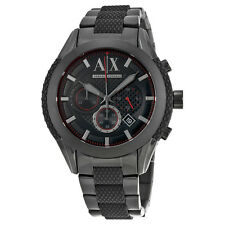 Armani Exchange Chronograph Black Dial Black Ion-plated Mens Watch AX1387