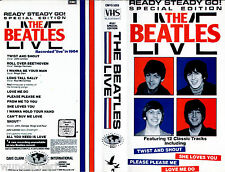 VHS -- The BEATLES Live - Ready Steady Go ! - Featuring 12 Classic Tracks --