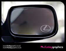 LEXUS SYMBOL LOGO MIRROR DECALS STICKERS GRAPHICS DECALS x3 IN SILVER ETCH