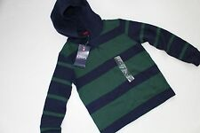 Boys Shirt Top Green Navy Chaps by Ralph Lauren Size 7 Hooded NEW NWT