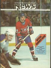 1980 June,  ScotiaBank Magazine, Canadiens' Pierre Larouche, Gainey, Bobby Orr