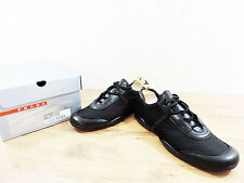 Prada Black Glove Soft Men's Leather Shoes Trainers Sneakers UK 8.5 US 9.5 E42.5