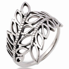 THAI LEAF SMALL RING 92.5 STERLING SILVER Size.US=6,UK=L.