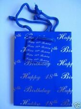 Gift Bag With Tags - Happy Birthday Ages 18-50 Small/Medium/Large/Bottle/Present