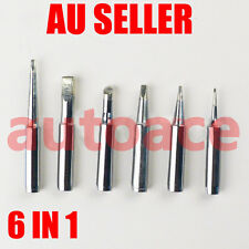 6PCs Tips Solder Soldering Iron Rework Station FOR hakko T18 FX888 FX8801 958 AU