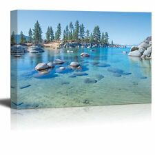 "Canvas Prints - Blue Clear Water on the Shore of the Lake Tahoe - 32"" x 48"""