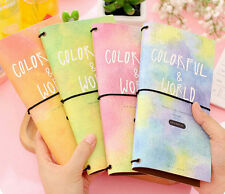 """""""Colorful World"""" Cardboard Notebook Diary Journal Planner Schedule Travel #UK"""