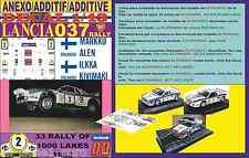 ANEXO DECAL 1/43 LANCIA 037 RALLY MARKKU ALEN 1000 LAKES 1983 (01)