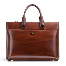 Men Genuine Leather Vintage Briefcase 15'' Laptop Work Attache Case Shoulder bag