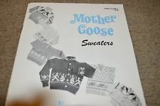 Vintage Nomis Baby Knitting Pattern Book 9 Mother Goose Sweaters 6m to 6yr