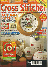 CROSS STITCHER MAGAZINE # 35 OCT 95 AUTUMN KITCHEN -  CLOCK - WISE WORDS -