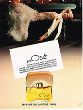 PUBLICITE ADVERTISING 044  1979  GUY LAROCHE    parfum J'AI OSE