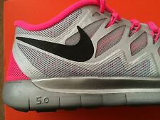 Girls Women Nike Free 5.0 Flash GS Trainers Running GYM Pink 5.5 UK RRP £69.99