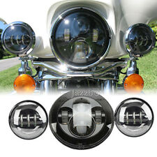 "7"" LED Daymaker Headlight Light For Harley Trike Tri Glide Ultra Classic Limited"