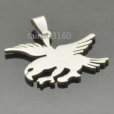 New Silver Fashion Dog Tag Stainless Steel Cool Eagle Shiny Pendant 1PCS PT94